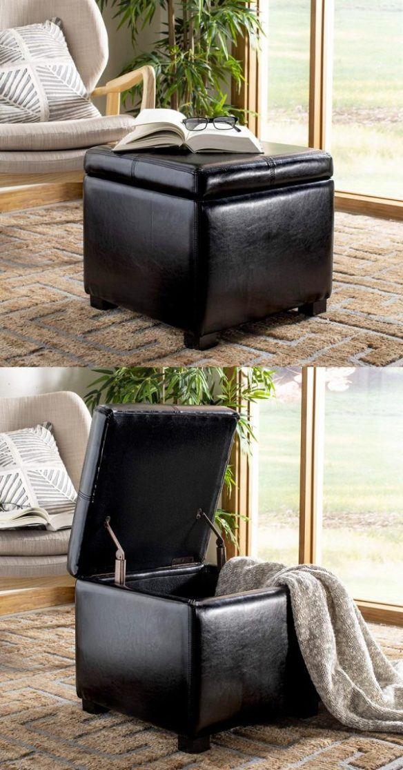 Amazing 43 Storage Ottomans To Declutter And Organize Your Home Ibusinesslaw Wood Chair Design Ideas Ibusinesslaworg