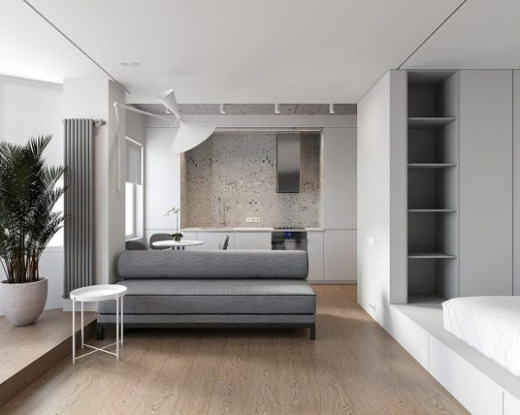 Two Minimalist Studio Apartments Making Statements with ...