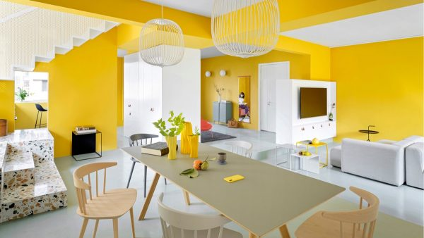 Fearless Yellow And White Home Decor With Terrazzo Touches Architectural Autocad Drawings Blocks Details Download Center