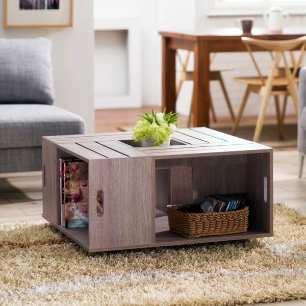 narrow coffee table wood barkeaterlake com