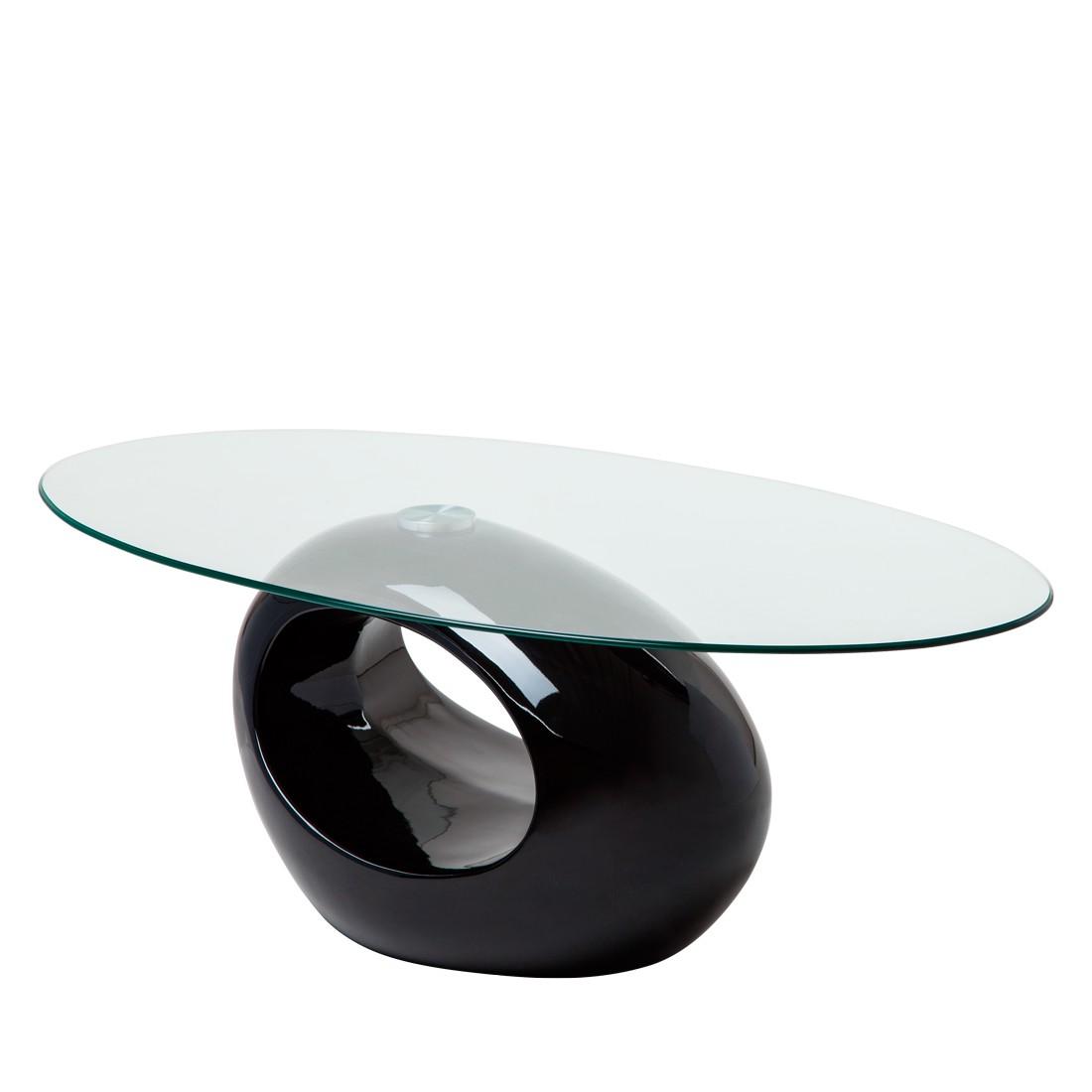 Couchtisch Glas Oval Schwarz Glas Couchtisch Rund Wohnideen