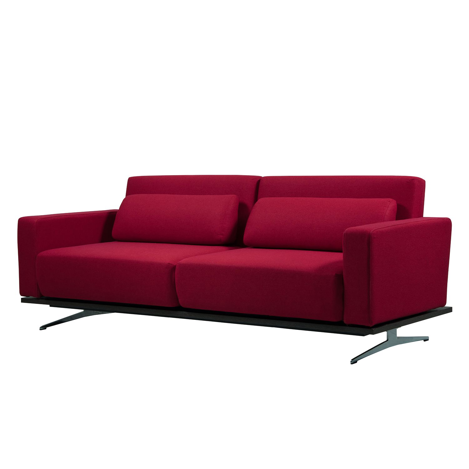 Schlafsofa Copperfield Schlafsofa Copperfield I - Webstoff - Stoff Bora Rot ...