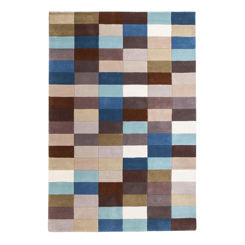 Teppich Wolle Blau Feiner Gabbeh Teppich Handgewebt Ca 70x195 Cm