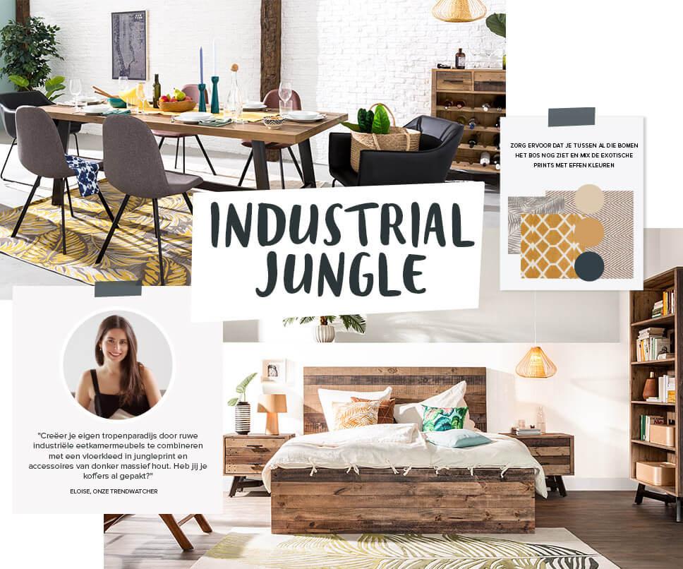 Woontrend Industrial jungle  Exotische trendmix  home24nl