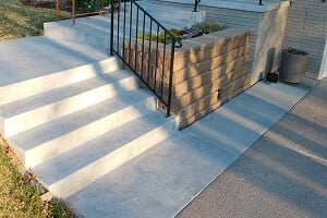 2020 Precast Concrete Steps Cost Price To Replace Cement Stairs | Wood Stairs Over Concrete | Stair Stringers | Cement | Concrete Slab | Patio | Build