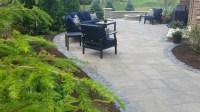 Modern Patio in Peotone - brick exterior, grey brick patio ...
