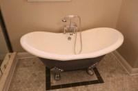 Shabby Chic Bathroom in Jacksonville - light tan wall ...