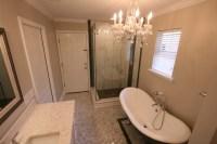 Shabby Chic Bathroom in Jacksonville - marble hexagon tile ...