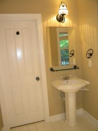 Traditional Bathroom in Bluffton - mirror, door | by L Trim