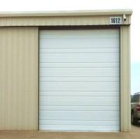 Contemporary Garage in Noble - oversized panel garage door ...