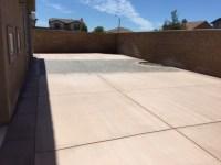 Contemporary Patio in Fontana - concrete block privacy ...