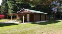 Traditional Garage in Benton Harbor - brown metal paneled ...