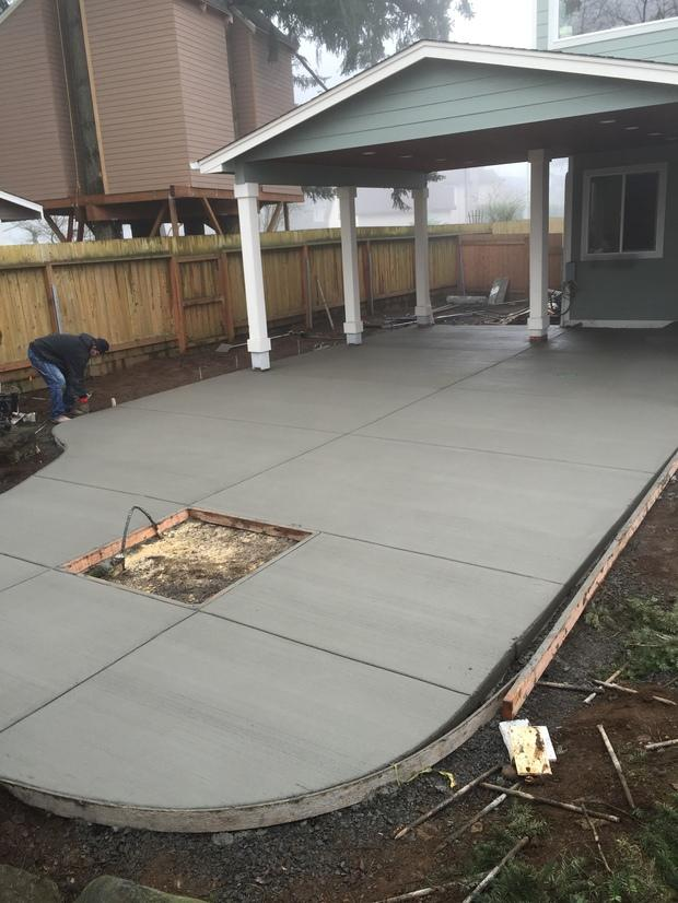 Transitional Patio in Vancouver  clapboard siding wood