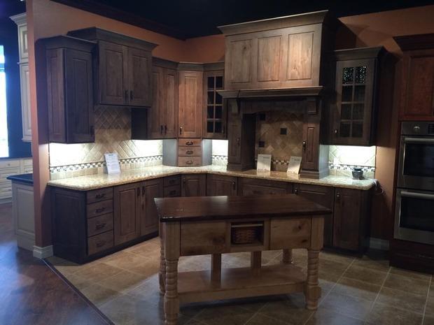 Shaker Kitchen in Woodlands  custom island wood top