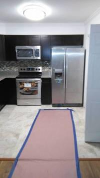Shabby Chic Kitchen in Pasadena - flat top stove, granite ...