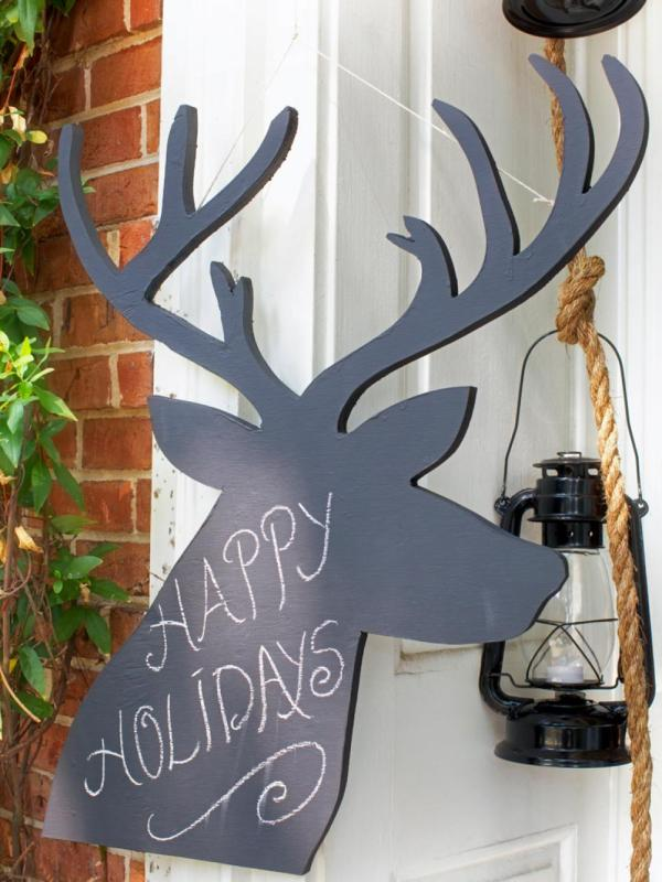 wooden outdoor christmas decorations - Outdoor Wooden Reindeer Christmas Decorations