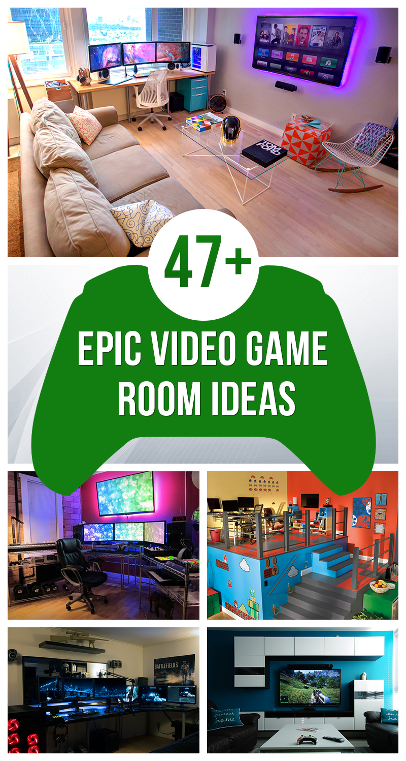 What are your top 5 video games? 47+ Epic Video Game Room Decoration Ideas for 2017