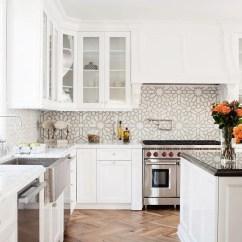 White Tile Backsplash Kitchen Pre Assembled Cabinets Online 18 Unique Design Ideas Style Motivation