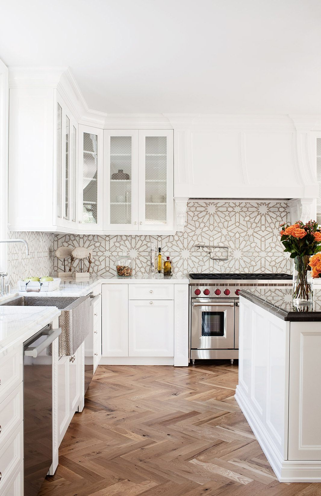 white tile backsplash kitchen granite countertops 18 unique design ideas style motivation