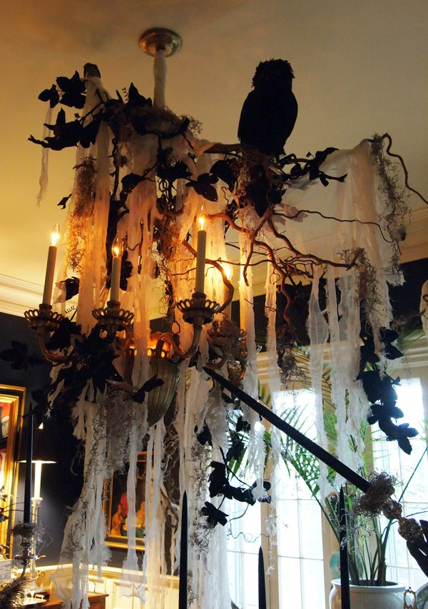 Halloween Chandelier Decoration Idea