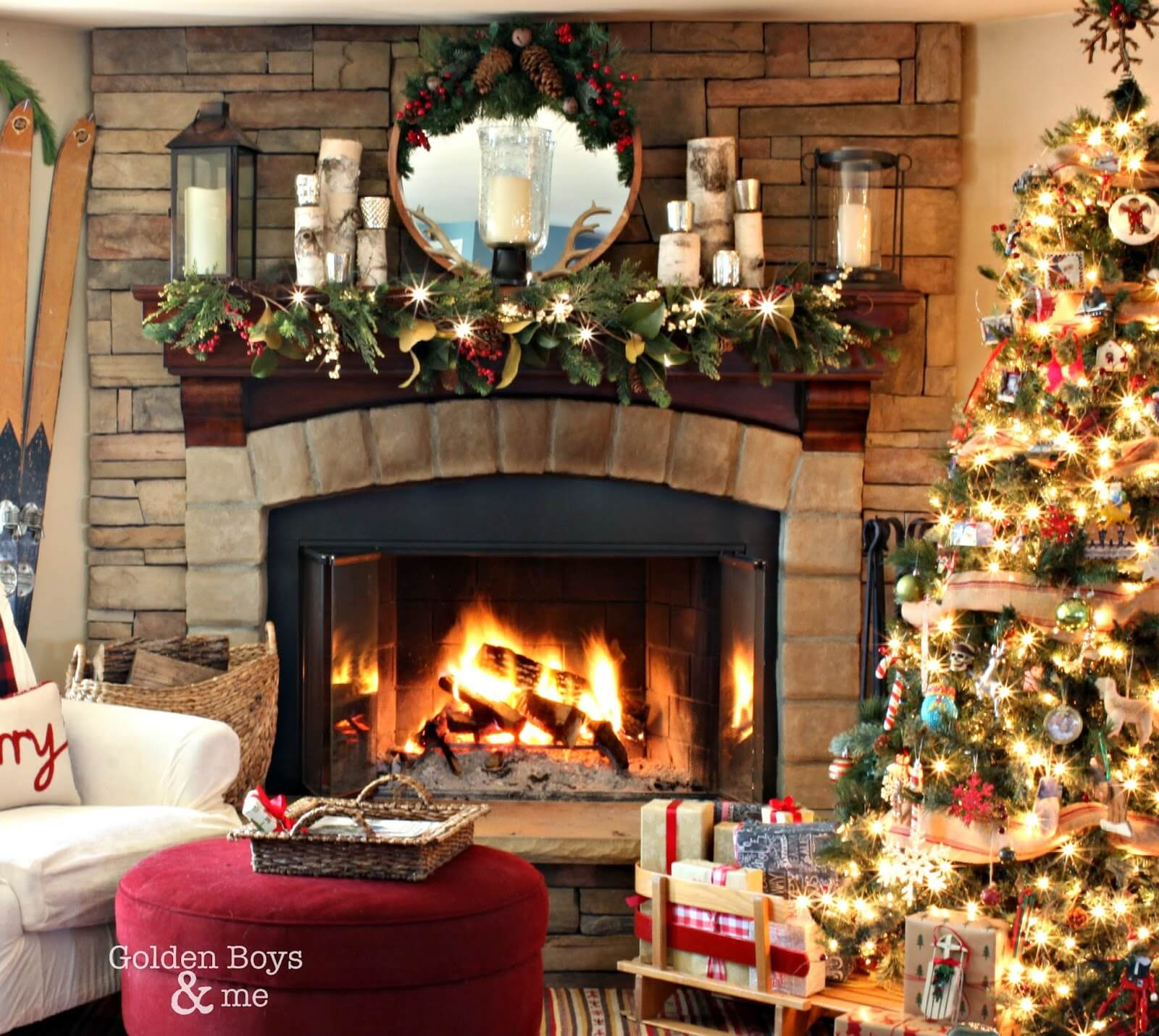 American Paint And Wallpaper Fall River 32 Best Christmas Mantel Decoration Ideas And Designs For 2017