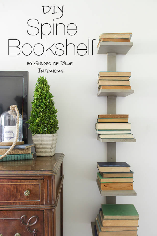 16 Awesome DIY Ideas For Bookshelves  Style Motivation