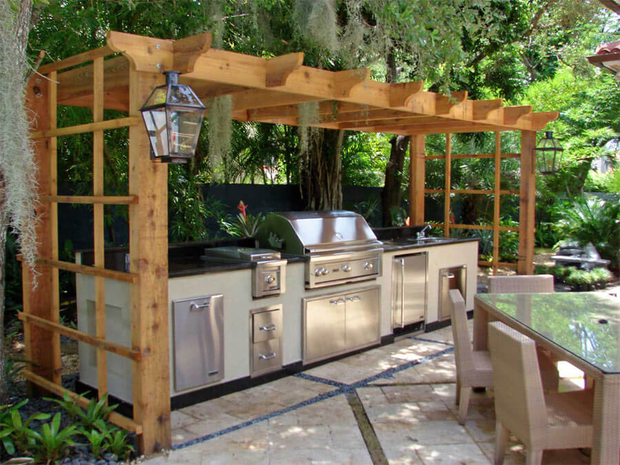 backyard kitchen designs nantucket polar white cabinets 17 functional and practical outdoor design ideas style