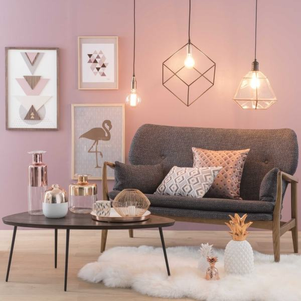Rose Gold And Copper Details Stylish Interior Decor