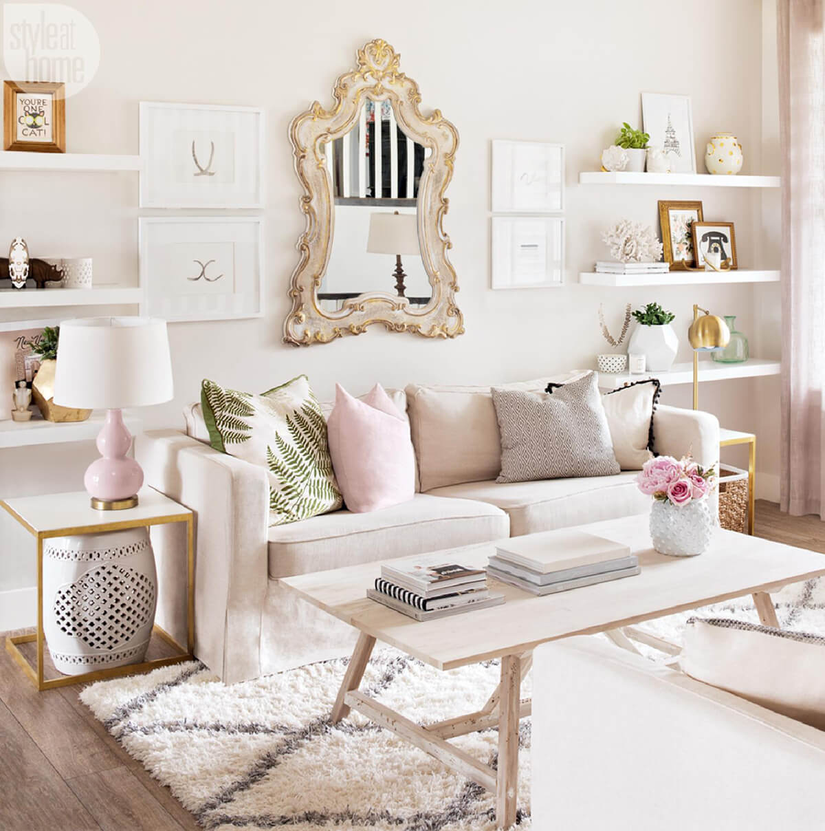 white leather office chair uk gripper pads 16 rose gold and copper details for stylish interior decor - style motivation