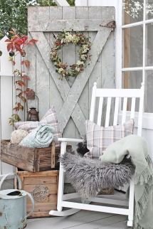 Farmhouse Front Porch Fall Decor Ideas