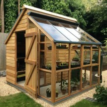 Storage Shed with Greenhouse