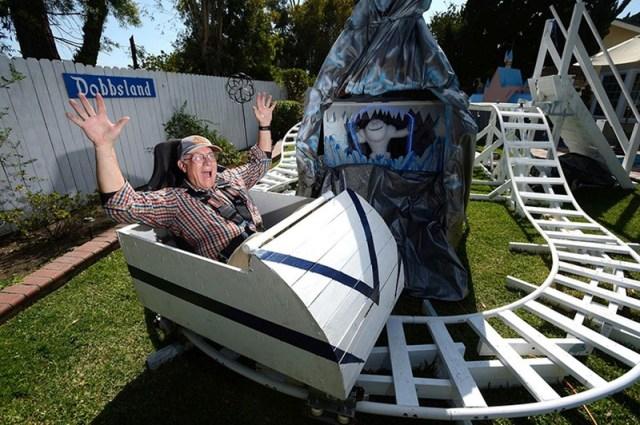 Dobbsland Disneyland Themed Amusement Park In Backyard by Steve Dobbs