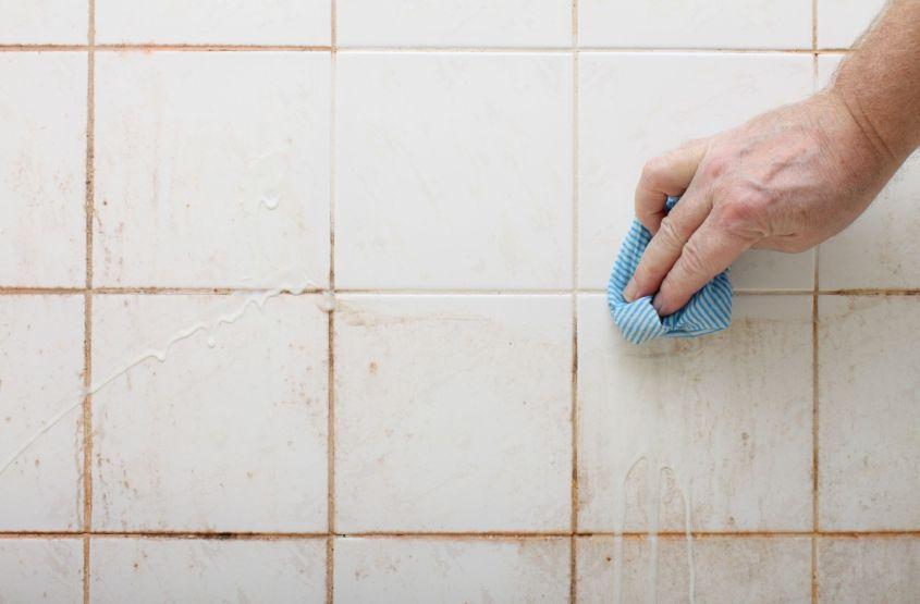 how to clean tile grout with homemade