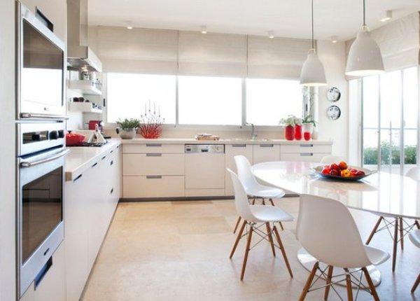 mid-century modern style kitchen cabinets