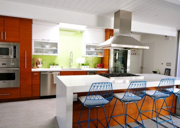 vintage mid century modern kitchen