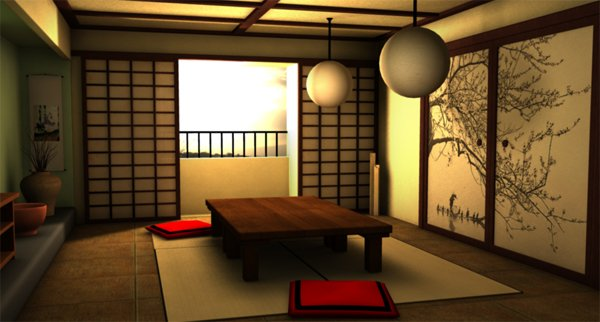 japanese zen living room