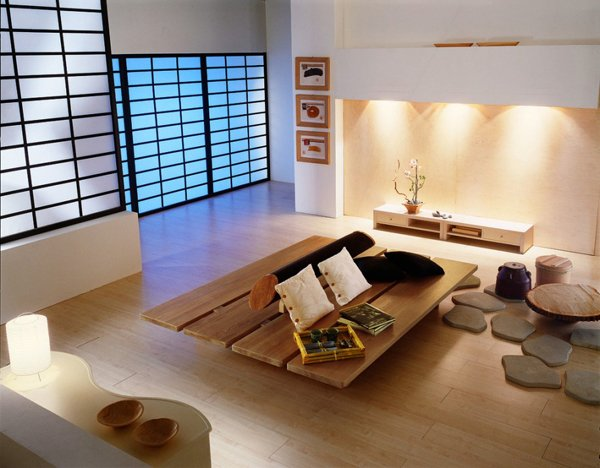 modern japanese living room design