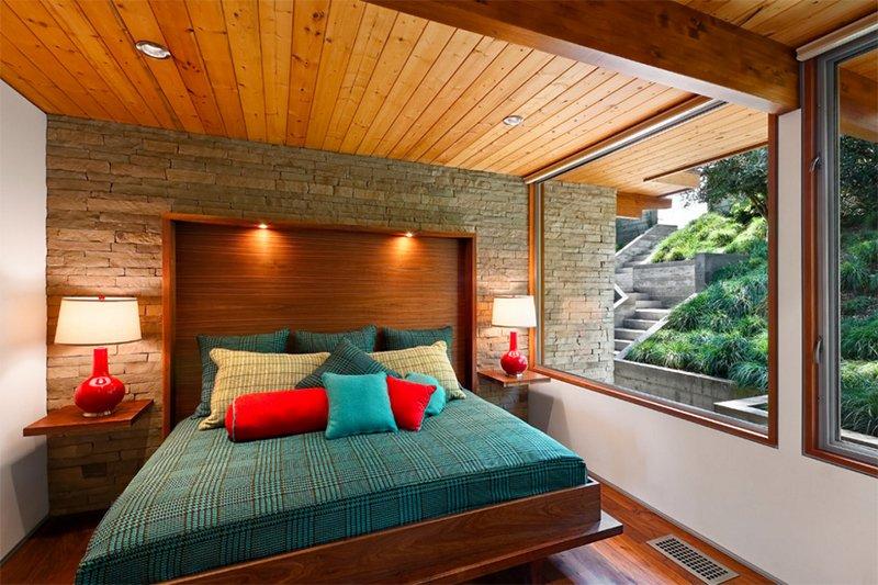 mid century modern master bedroom
