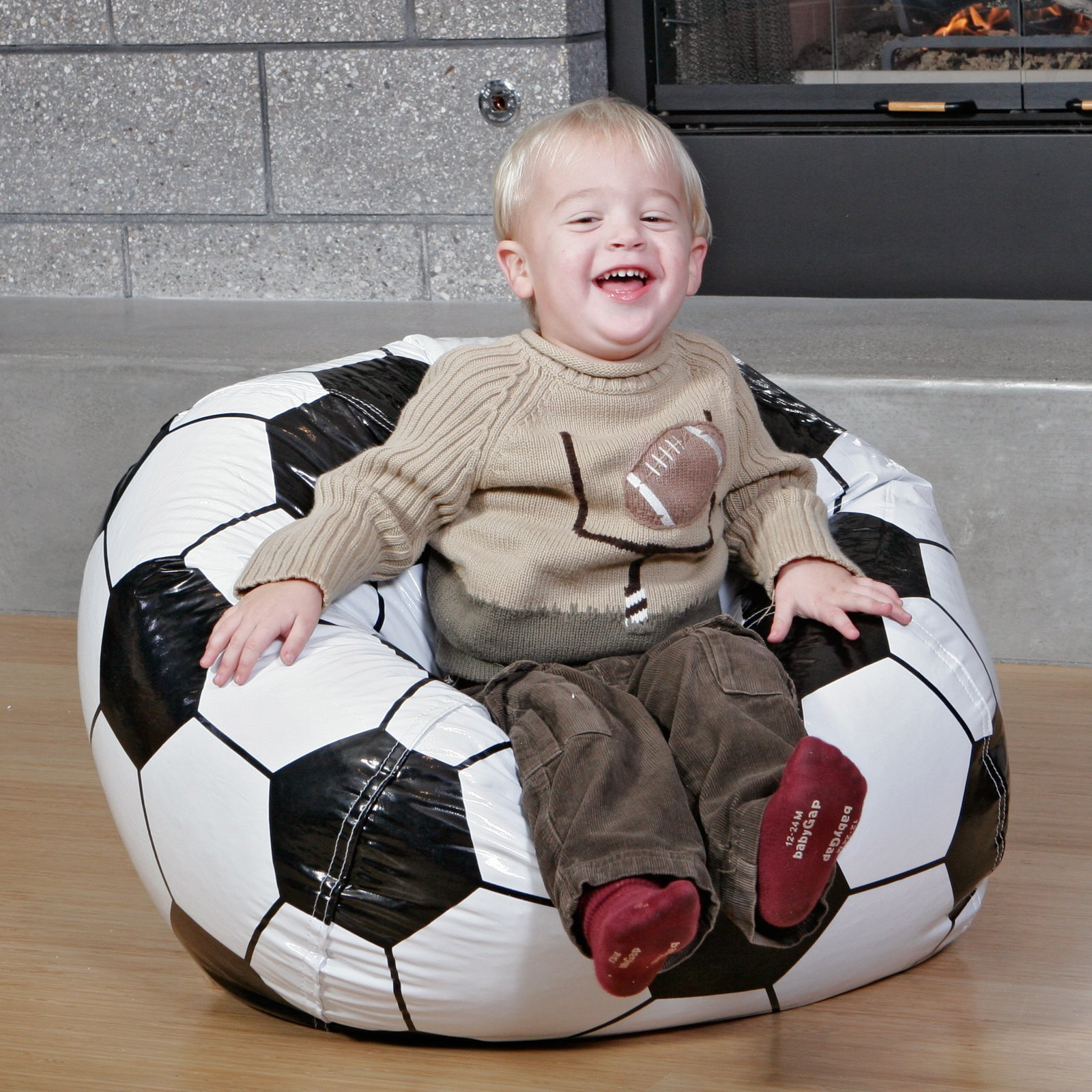 bean bag chairs for boys target wing chair covers sporty ball shaped bags home designing