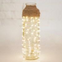 DIY Romantic String Light Centerpiece & Lamps | Home Designing