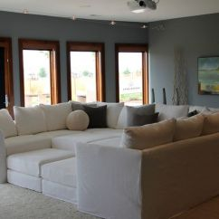 Oversized Furniture Living Room Cream Painted How To Decorate With Sofas