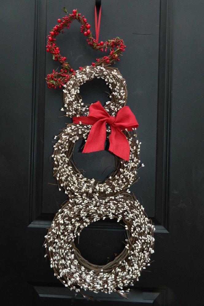 2016 Diy Deco Poly Mesh Snowman Wreath Trendy Tree Blog Holiday Decor Inspiration Tutorials Decorations Ribbons