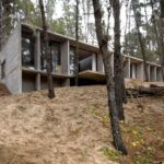 BAK Architects construct Concrete house in Mar Azul Forest2