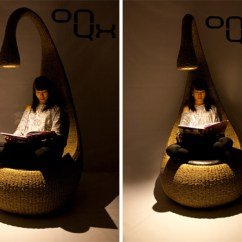 Chair With Light Bistro Cushion Bulb By Gaetan Van De Wyer Lamp 3