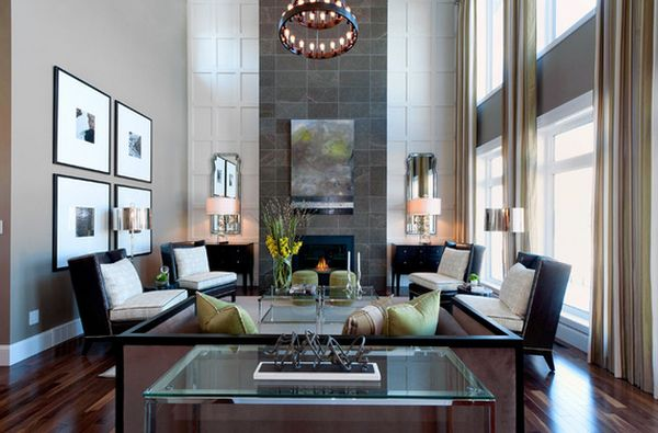 high ceiling living room decor ideas decorating with floating shelves how to decorate a ceilings fireplace wall view in gallery rooms