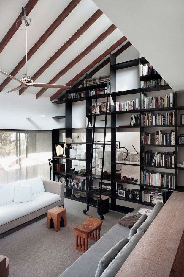 Living Room With High Ceiling Interior Decorations By Hanging Wall Art