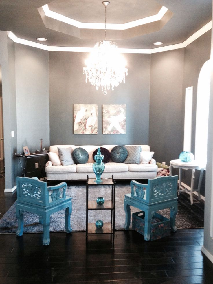 living room ideas with turquoise walls to decorate your how accents focus on one area