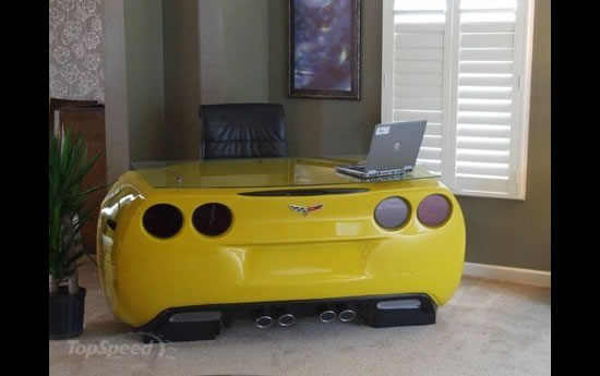 Chevrolet Corvette Inspired Desk