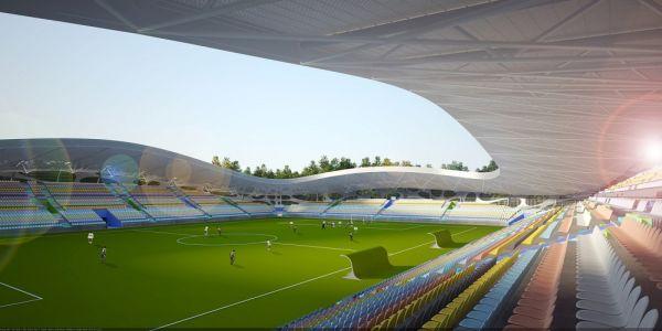 Football Stadium FC Bate Borisov A futuristic stadium