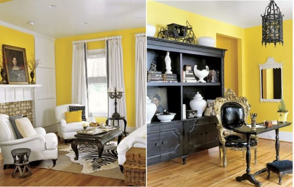 yellow gray and white living room tuscan furniture how to decorate with black